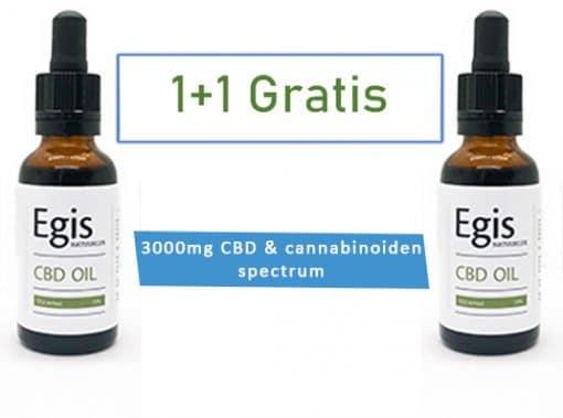 3000mg CBD & cannabinoiden spectrum 1+ 1 gratis